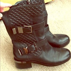 Vince Camuto Black Moto Boots